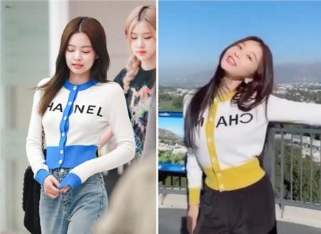 'Phát cuồng' vì Lisa nhưng 'thánh làm lố' Ngu Thư Hân lại nhiều lần bắt chước cách ăn mặc của Jennie 6
