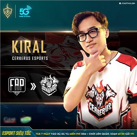 Từ lượt về, Kiral sẽ thi đấu trong đội hình của Cerberus