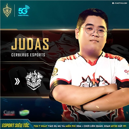 Judas sẽ đảm nhiệm vị trí đi rừng trong đội hình Khuyển Vương
