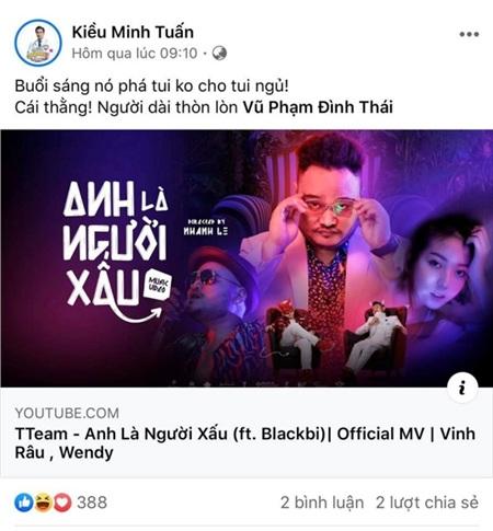 Ngọc Trinh, Tiến Luật cùng loạt sao Việt hết lời khen ngợi MV mới của Thái Vũ 3