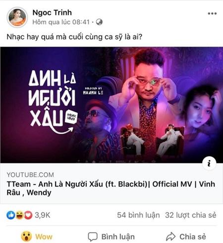 Ngọc Trinh, Tiến Luật cùng loạt sao Việt hết lời khen ngợi MV mới của Thái Vũ 5