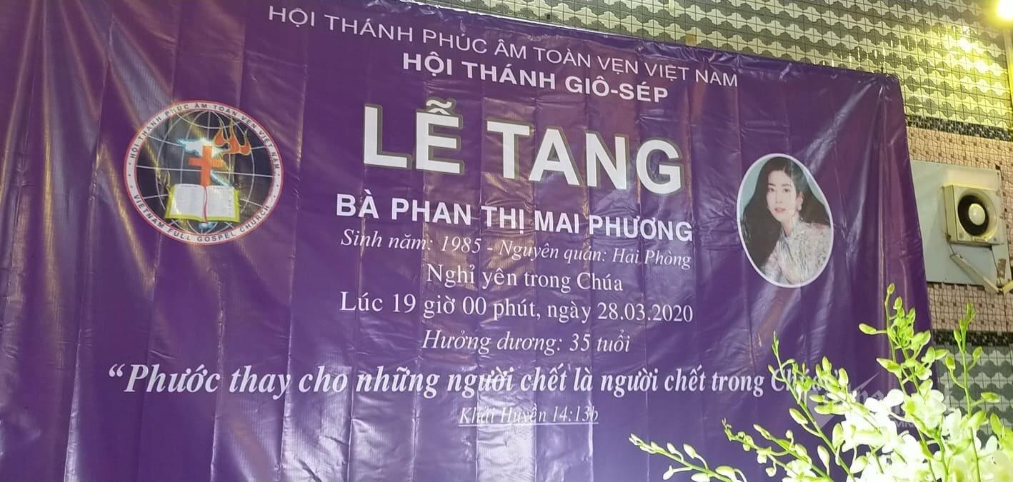 Nghi thức lễ tang của Mai Phương được thực hiện theo đạo Tin Lành, đúng như di nguyện trước khi qua đời của cô (Ảnh: Vietnamnet)