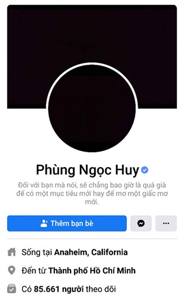 Facebook Phùng Ngọc Huy đã thay ảnh đen để tưởng nhớ Mai Phương.