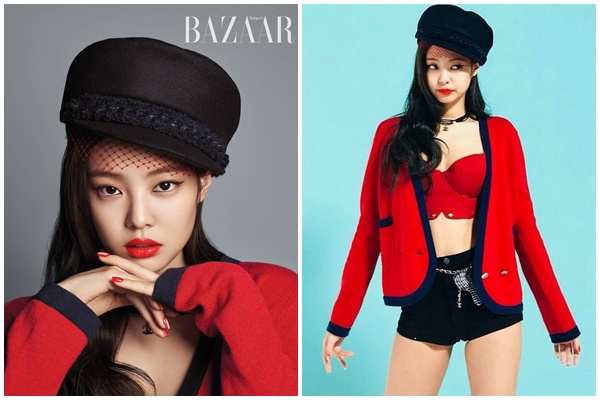 Không hổ danh là đại sứ thương hiệu Chanel, Jennie khéo léo kết hợp các phụ kiện của nhà mốt đình đám này cùng với màu son đỏ quyến rũ càng giúp tôn lên vẻ đẹp 'chanh xả' của mình.