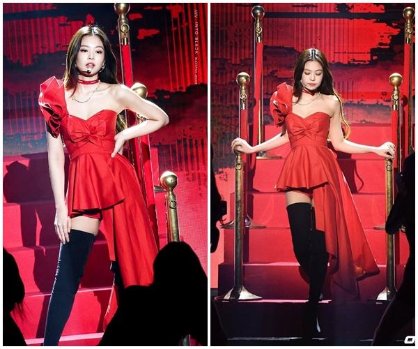7 lần Jennie (BlackPink) 'khuấy đảo' mạng xã hội với trang phục đỏ chót 2