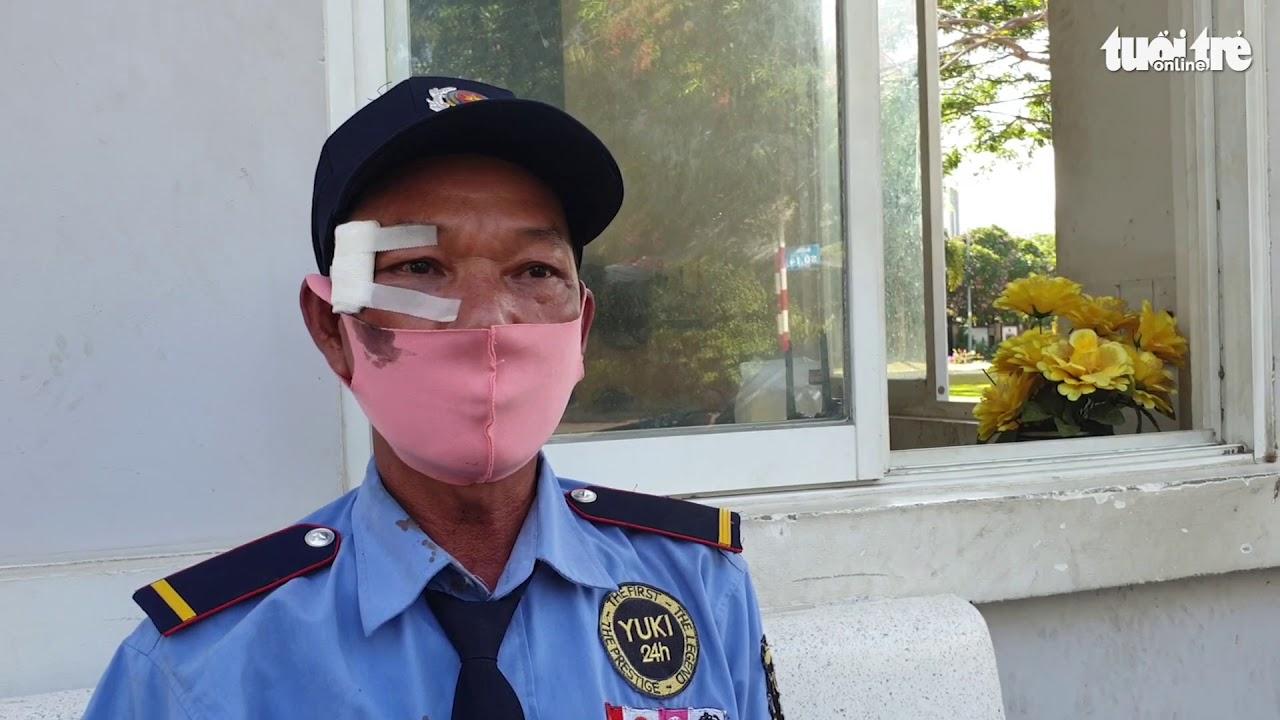 Ông G. với vết thương trên mặt