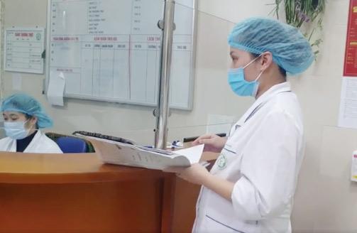 Nữ điều dưỡng H dự sinh khoảng 2 tuần nữa, tại BV Bạch Mai.