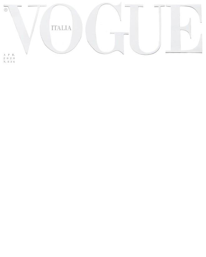 Tạp chí Vogue Ý số tháng 4/2020 mang một màu trắng xóa.