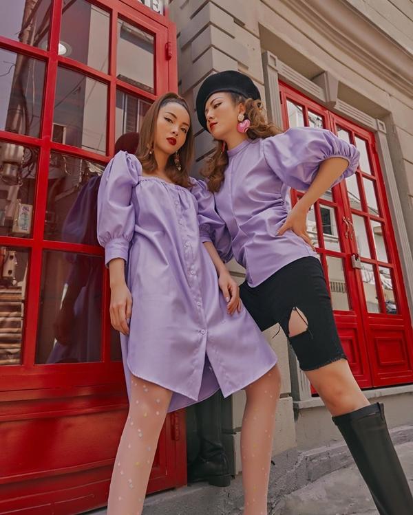 Phong cách street style của Song Yến luôn được cả hai cập nhật những xu hướng mới nhất.