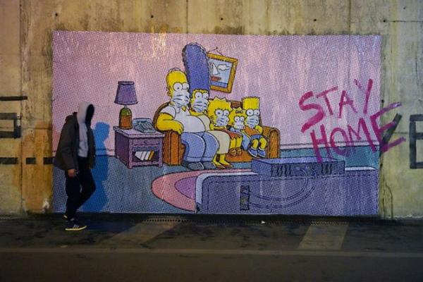 Loạttác phẩm nghệ thuật đường phố tuyên truyền phòng chống đại dịch Covid-19 ấn tượng trên thế giới 10