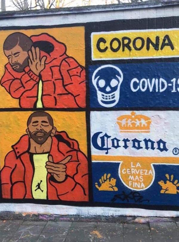 Loạttác phẩm nghệ thuật đường phố tuyên truyền phòng chống đại dịch Covid-19 ấn tượng trên thế giới 9