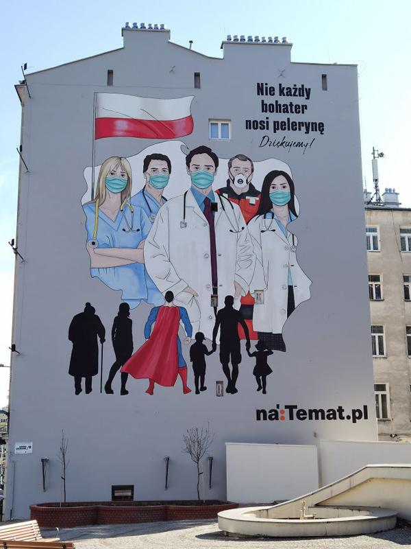 Loạttác phẩm nghệ thuật đường phố tuyên truyền phòng chống đại dịch Covid-19 ấn tượng trên thế giới 1