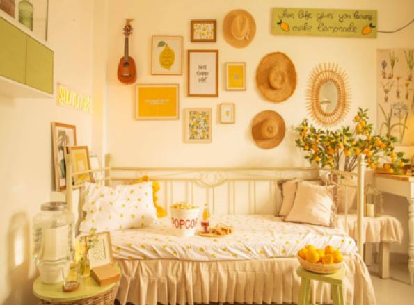 Mãn nhãn với căn phòng theo concept mùa hè của Carot Dang.