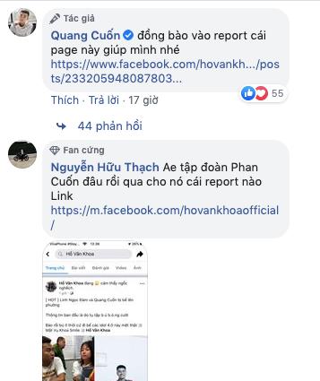 Sau khi kêu gọi reports, fanpage này đã bị sập.