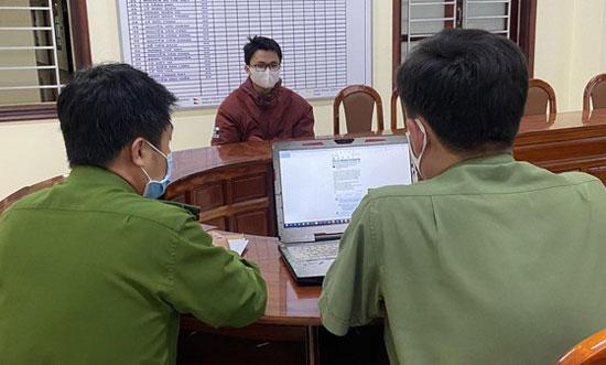 Đinh Vĩnh Sơn tại cơ quan điều tra