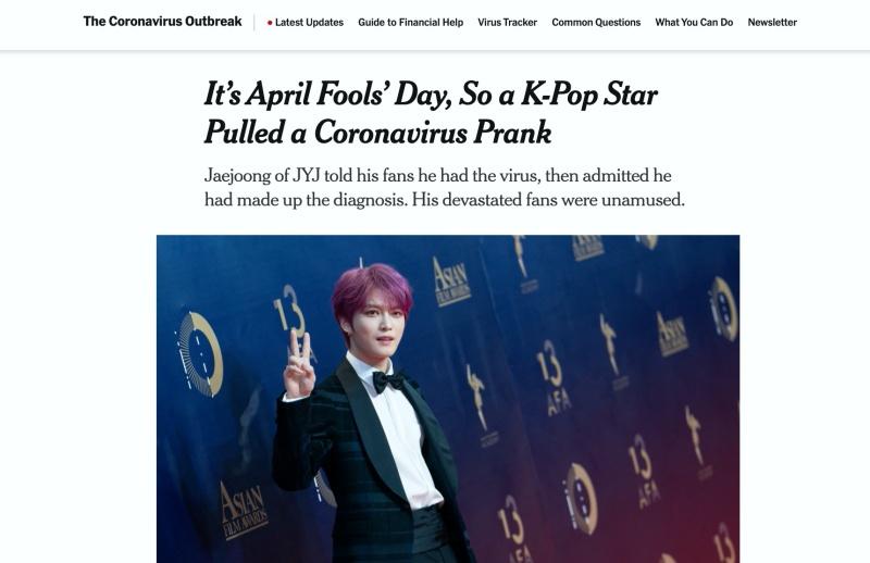 Bài đăng trên New York Times.