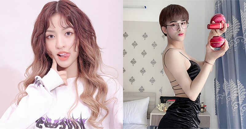Hot girl 'Trứng rán cần mỡ' - Trần Thanh Tâm (trái) và hot Tik Tok - Trần Đức Bo (phải)
