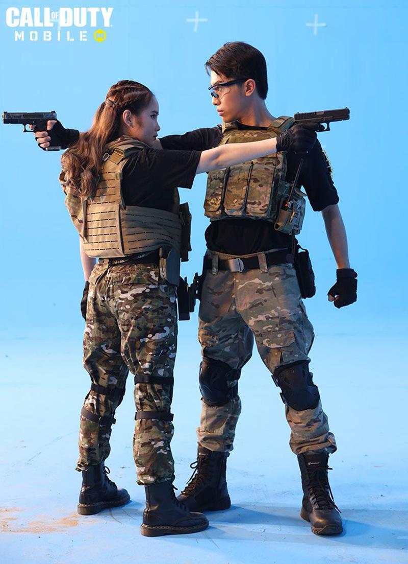 Cặp đôi Cris Phan và Noob Mai Quỳnh Anh tạo cảm hứng chiến binh cho cộng đồng người chơi Call of Duty: Mobile VN