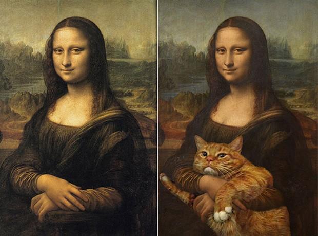 Chết cười loạt ảnh chế mèo béo trở thành 'nàng thơ' trong các bức họa nổi tiếng 0