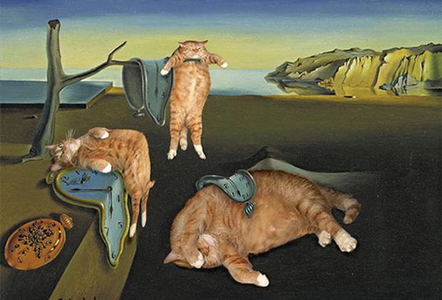 Chết cười loạt ảnh chế mèo béo trở thành 'nàng thơ' trong các bức họa nổi tiếng 2