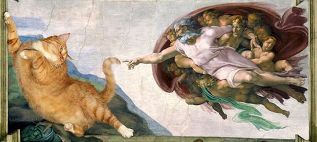 Chết cười loạt ảnh chế mèo béo trở thành 'nàng thơ' trong các bức họa nổi tiếng 5