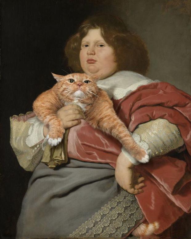 Chết cười loạt ảnh chế mèo béo trở thành 'nàng thơ' trong các bức họa nổi tiếng 14