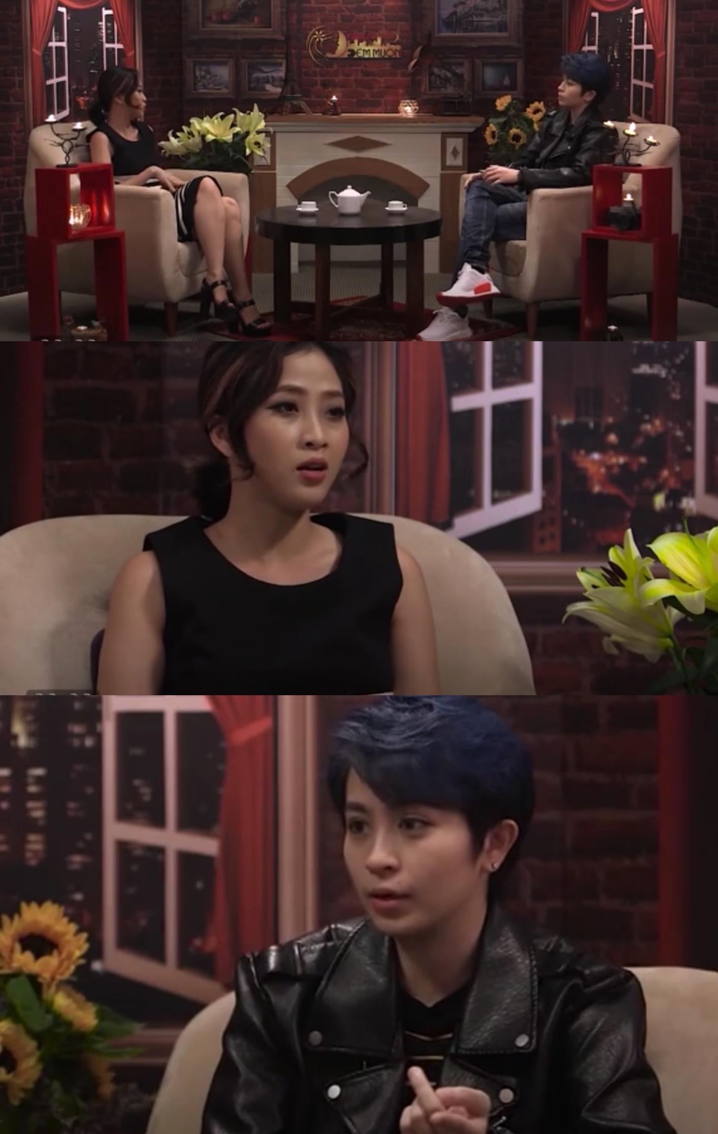 Gil Lê từng xuất hiện trên talkshowChuyện đêm muộncủa Liêu Hà Trinh.