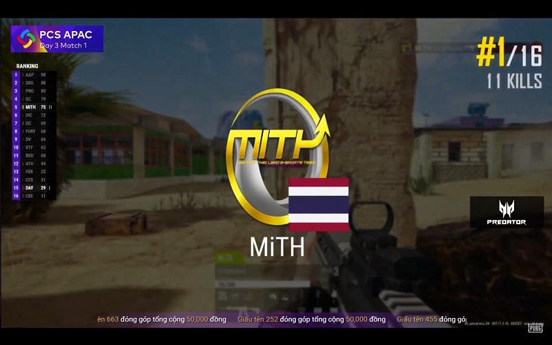 Top 1 với 10 kills đầy thuyết phục của Made in Thailand.