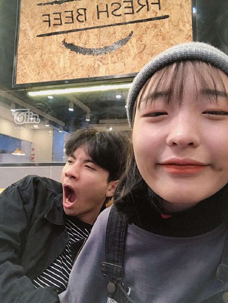 Cô nàng Quỳnh Như và bạn trai Hồng Quân