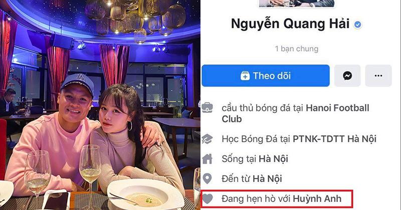 Quang Hải chính thức công khai hẹn hò với Huỳnh Anh.