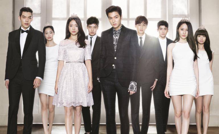 Dàn cast 'hiếm có khó tìm' (từ trái qua phải): Kim Woo Bin, Jeon Soo Jin, Park Shin Hye, Kang Ha Neul, Lee Min Ho, Kang Min Hyuk, Park Hyung Sik, Krystal, Kim Ji Won