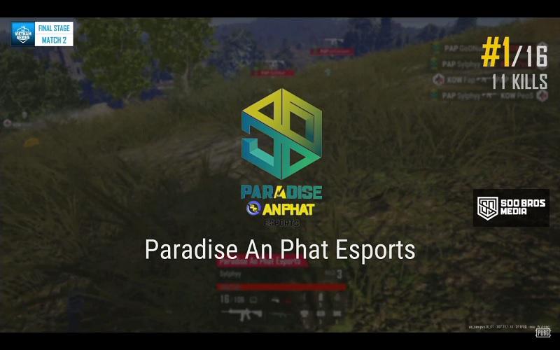 Paradise Anphat lên ngôi với 11 kills sau khi chiếm đượccho mình vị trí đắc địa.