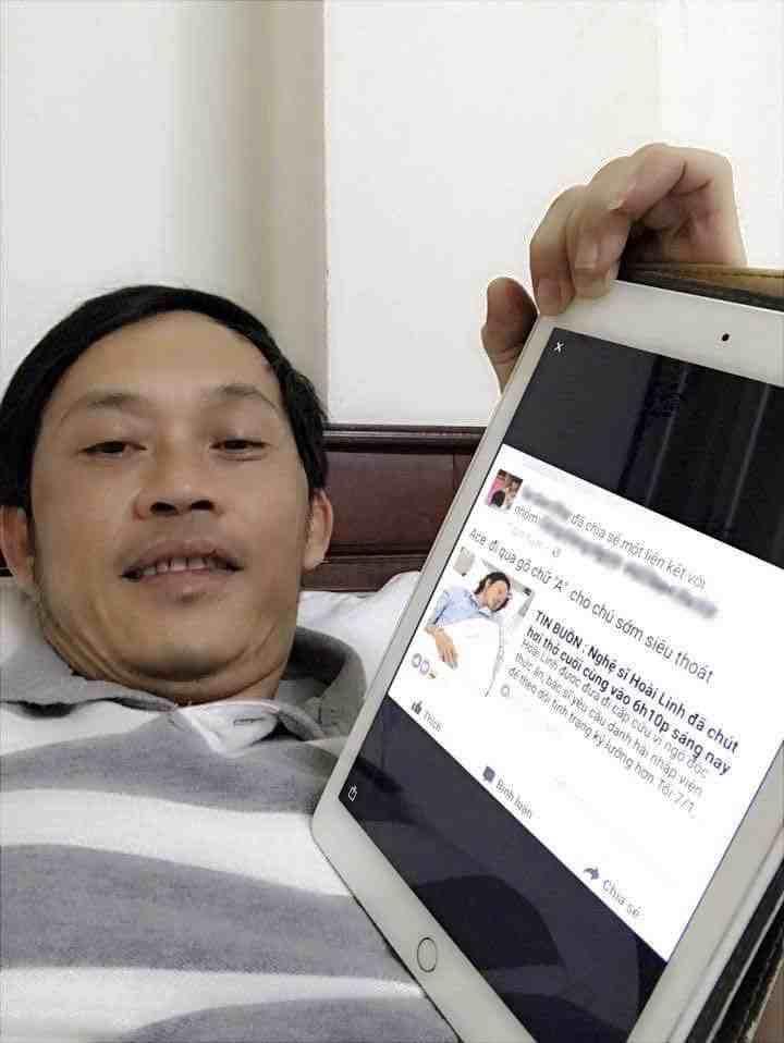 Nghệ sĩ Hoài Linh xóa tan mọi tin đồn bằng hình ảnh của mình và bài đăng bịa đặt.