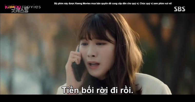 Ye Eun thông báo cho cả nhóm sau khi nhận được tin nhắn của Chan Mi.
