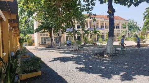 Trường THCS Phước Minh, nơi xảy ra vụ thầy giáo dâm ô học sinh. Ảnh: Zing.vn