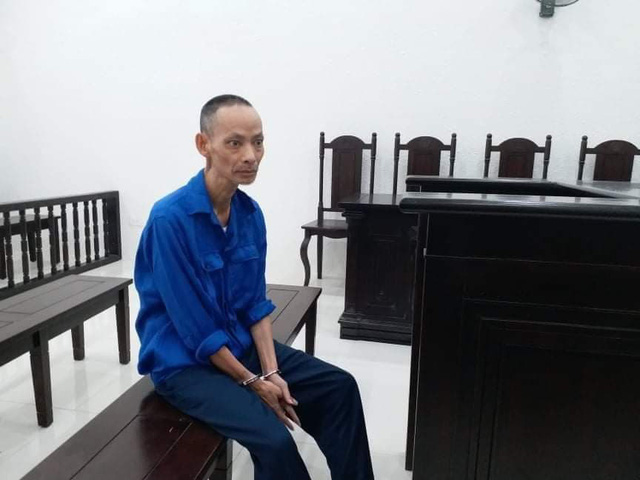 Bị cáo Phong tại phiên toà (ảnh tư liệu)