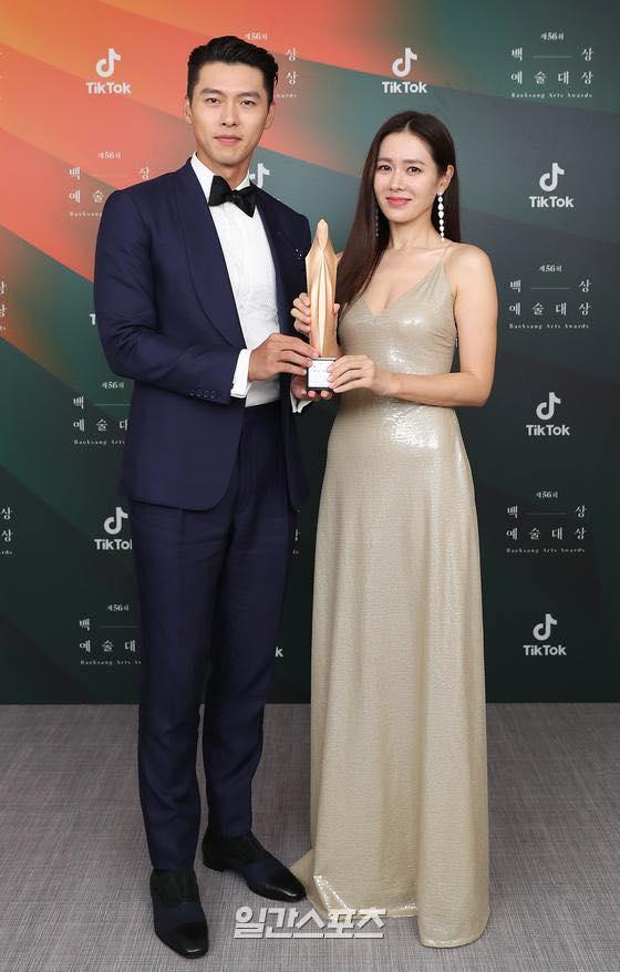 Hyun Bin và Son Ye Jin nhận giải Nam nữ diễn viên được yêu thích nhất