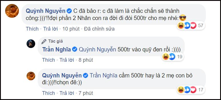 Dòng bình luận của Nhi (Quỳnh Kool) khiến nhiều người tinvào việc sẽ có phần 2 của phim