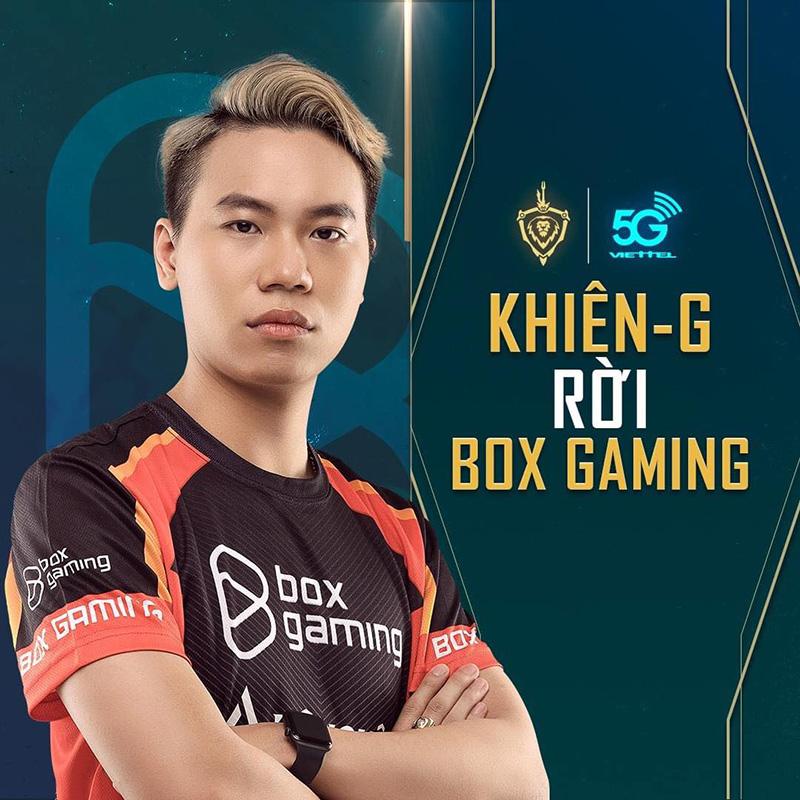 Khiên-G chia tay Box Gaming chỉ sau một mùa giải gắn bó
