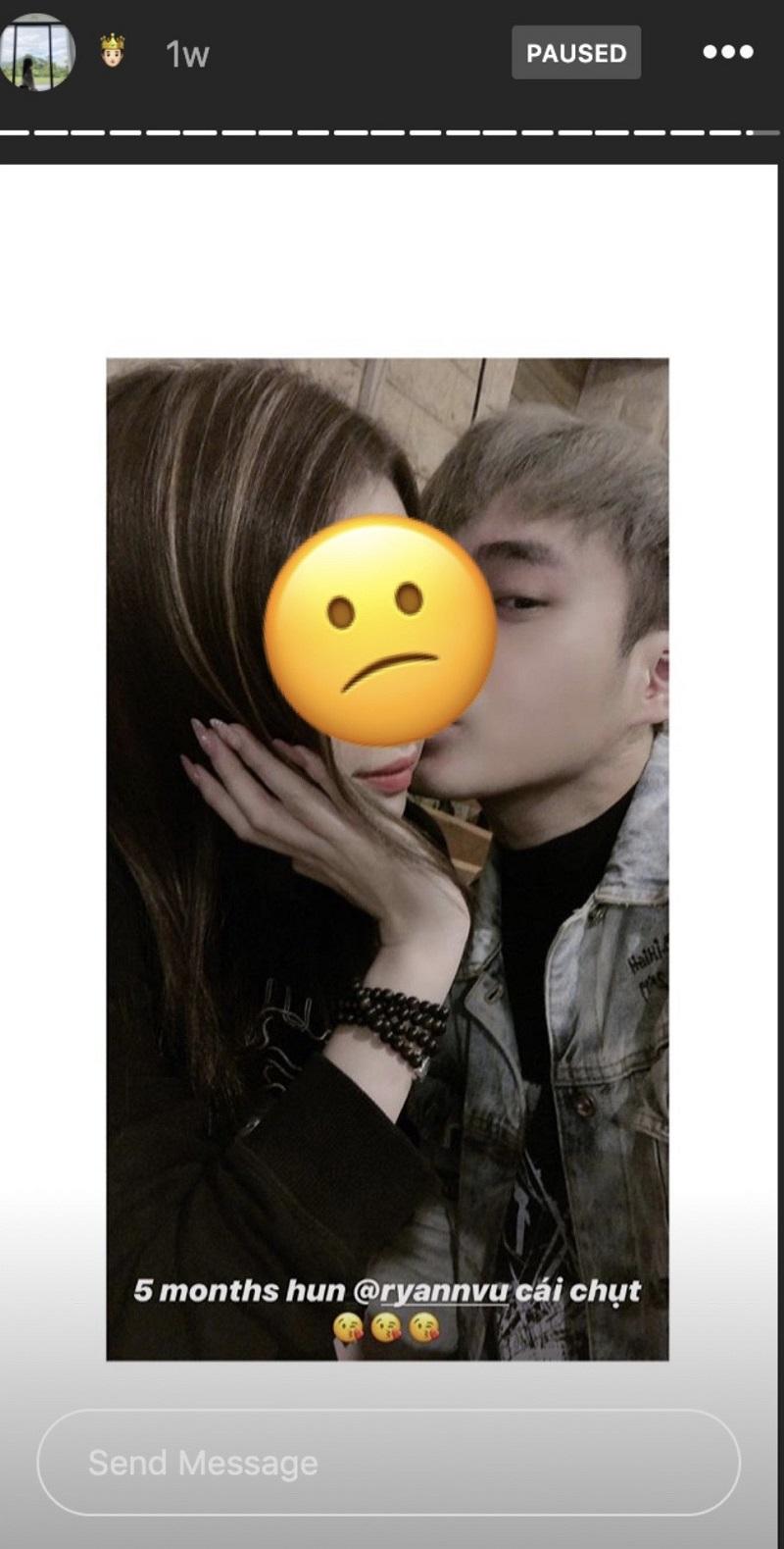 Cô gái có nickname S. đăng tải hình ảnh thân mật với Ngọc Anh