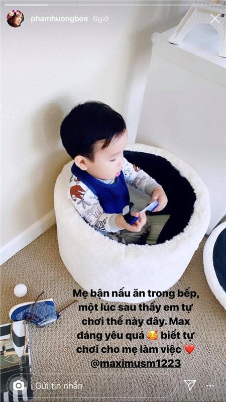 Phạm Hương lại khoe con trai mới hơn 1 tuổi nhưng đã biết làm điều khiến mẹ tự hào này 0