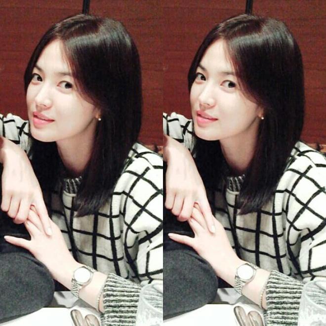 Mái tóc lửng lơ không ngắn không dài vậy mà trẻ lâu và sang hết biết, hèn chi Song Hye Kyo gắn bó suốt cũng phải 3