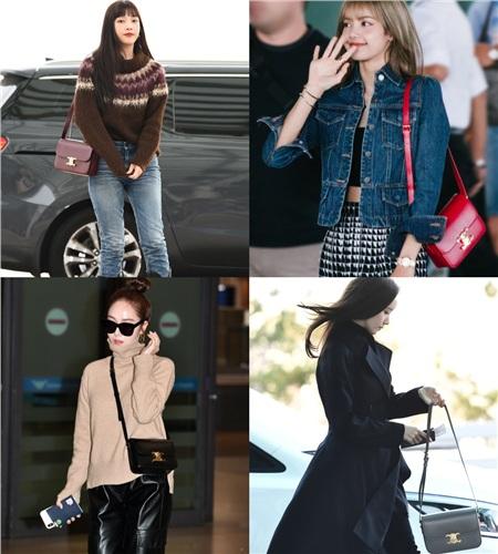 Chiếc túi xuất hiện trong nhiều hình ảnh street style của sao Hàn như: Joy (Red Velvet), Lisa (Black Pink), Jessica, Yoona.
