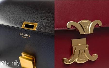 Thiết kế túi Celine Triomphe mới chỉ khác phần khóa so với mẫu túi Celine cũ.