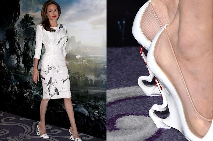 Christian Louboutin đã tạo ra một đôi giày cao gót được lấy cảm hứng từ vai diễn Angelina Jolie trong bộ phim Maleficent của Disney. Phần gót được điêu khắc giống như sừng của Maleficent.