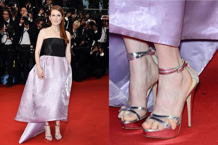 Ngón chân của Julianne Moore chiếm hết spotlight của chính chủ tại liên hoan phim Cannes 2013.