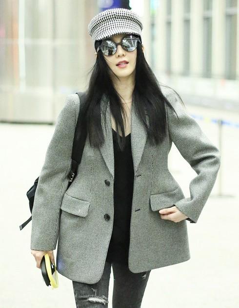 Phạm Băng Băng tại sân bay Bắc Kinh