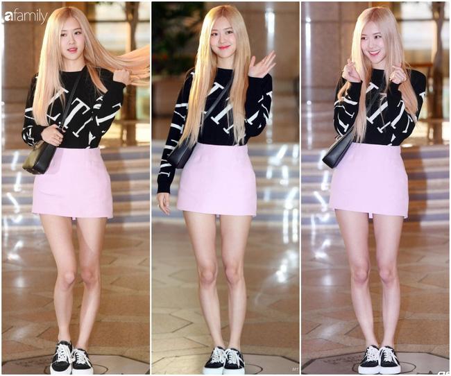 Mẫu váy hồng ngọt ngào giúp Rosé trông trẻ xinh như 1 cô nữ sinh đôi mươi.