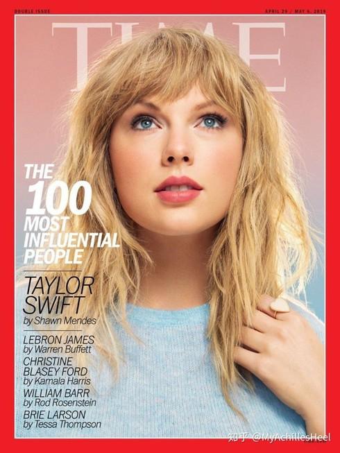 Tháng 5, cô xuất hiện trên ảnh bìa tờ Time trong ấn phẩm đặc biệt vinh danh 100 nhân vật ảnh hưởng nhất thế giới. Tạp chí nhận định: 'Taylor khiến người lớn cảm thấy trẻ hơn, khiến người trẻ cảm thấy họ có thể chinh phục mọi điều. Nữ ca sĩ chinh phục thế giới với sự chân thành và niềm tin vào tình yêu'.