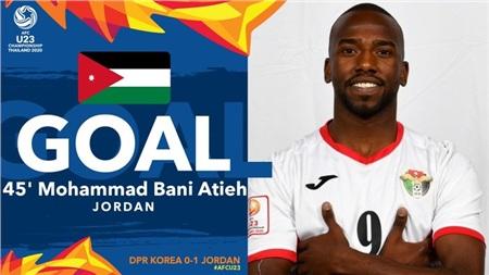 U23 Jordan có bàn mở tỉ số phút cuối hiệp 1.